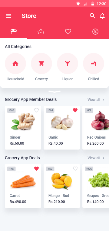 Multi-vendor marketplace app Screen 2 by Soft Suave